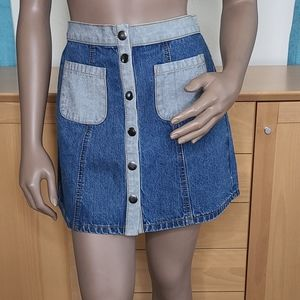 Denim mini skirt size 4